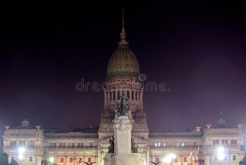 Construção do congresso - Buenos Aires, Argentina imagens de stock