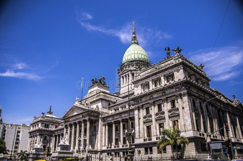 Construção do congresso nacional, Buenos Aires, Argentina imagens de stock