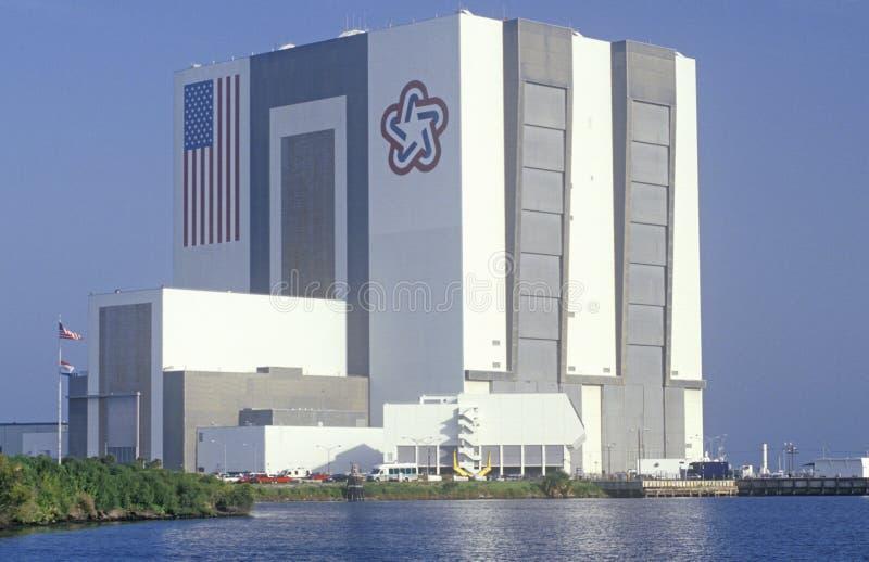 Construção do conjunto do veículo de espaço, Kennedy Space Center, Cabo Canaveral, FL fotografia de stock
