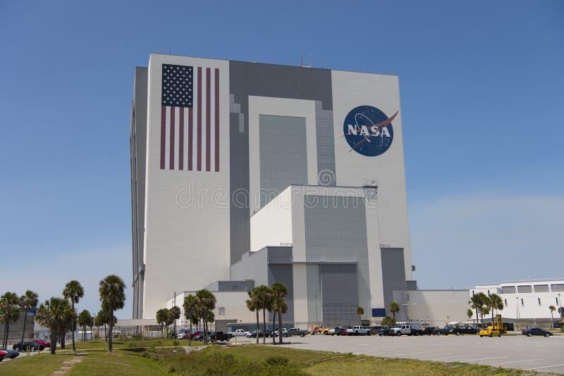 Construção do conjunto do veículo em Kennedy Space Center foto de stock