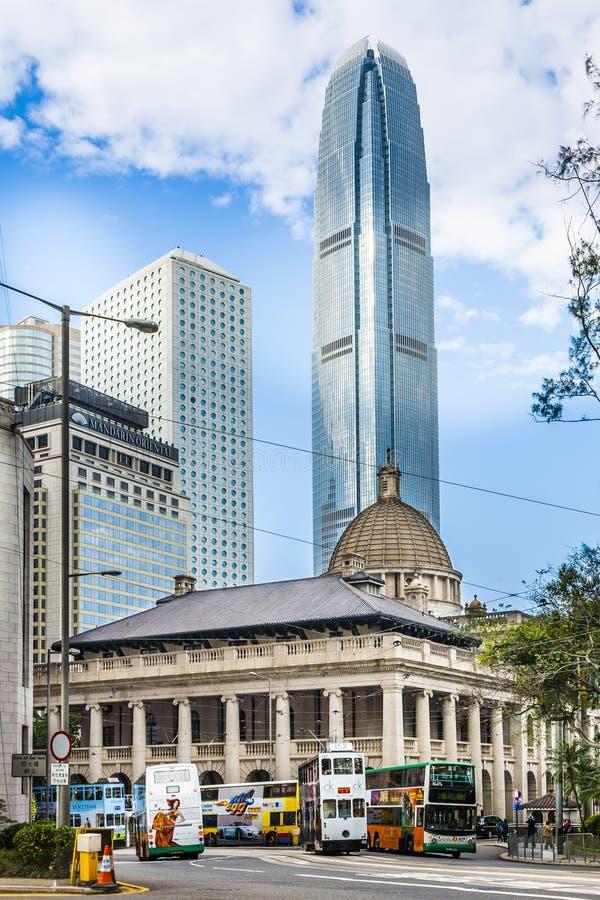 Construção do conselho legislativo de HONG KONG em Hong Kong foto de stock