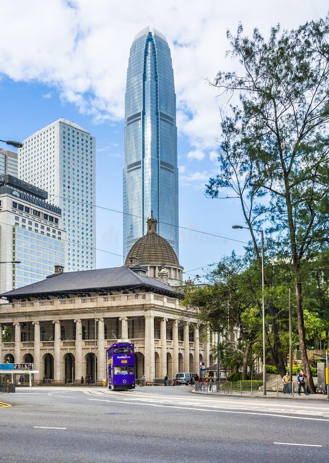 Construção do conselho legislativo de HONG KONG em Hong Kong fotos de stock