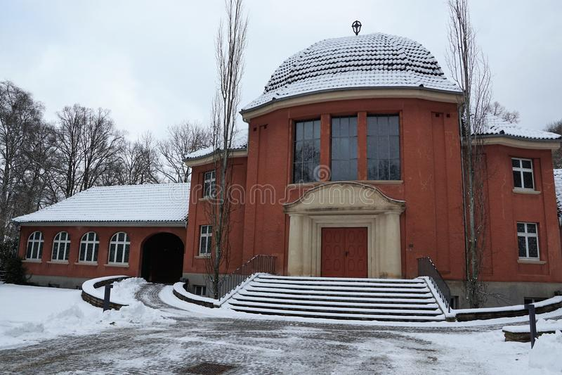 Construção do crematório no tuttlingen foto de stock