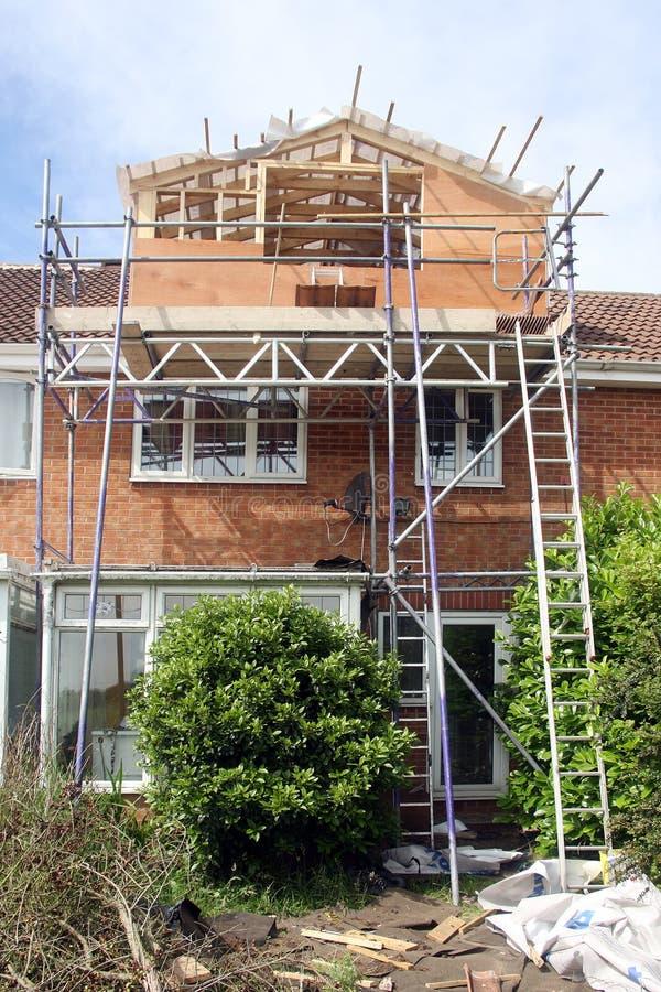 Construção do Dormer na casa fotos de stock
