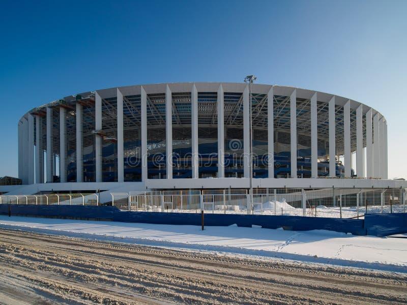Construção do estádio em Nizhny Novgorod imagem de stock