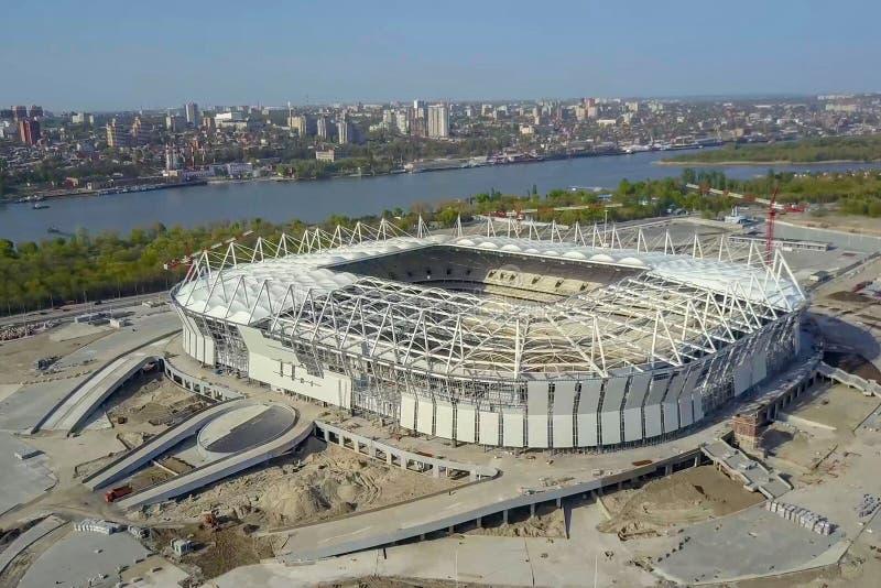Construção do estádio Estádio novo, facilidade de esportes imagem de stock royalty free