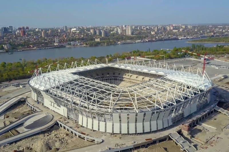 Construção do estádio Estádio novo, facilidade de esportes foto de stock royalty free