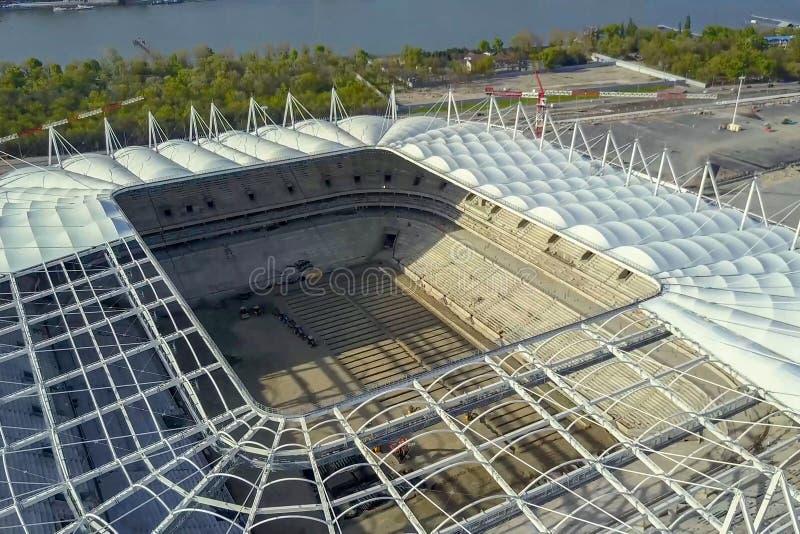 Construção do estádio Estádio novo, facilidade de esportes fotos de stock royalty free