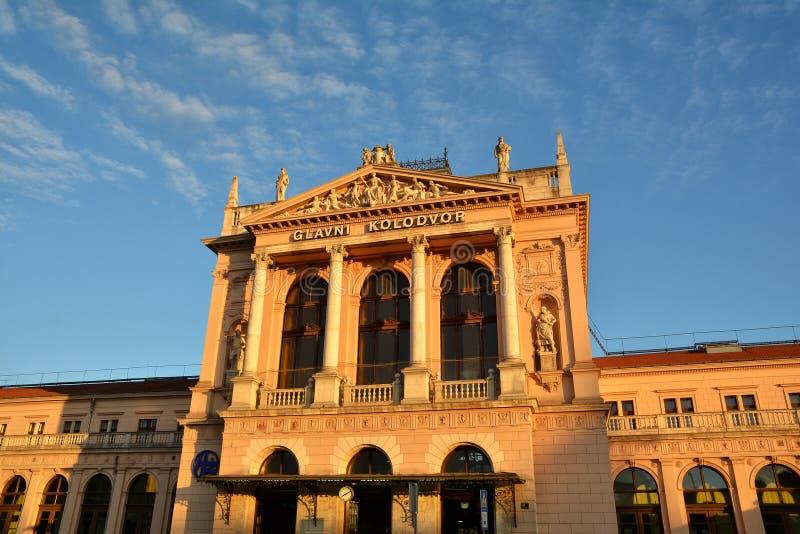 Construção do estação de caminhos-de-ferro de Zagreb fotografia de stock