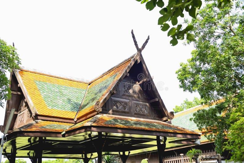 Construção do estilo de Tailândia imagens de stock