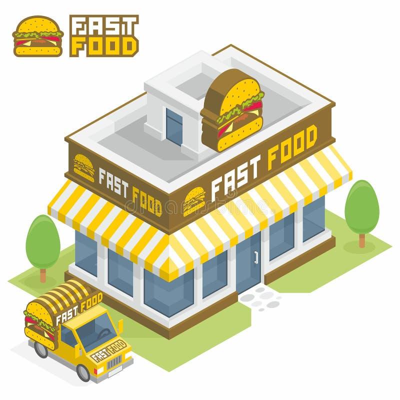 Construção do fast food ilustração do vetor