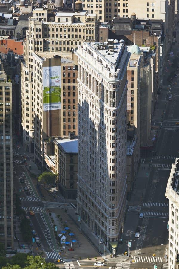 Construção do ferro de passar roupa de Manhattan, editorial fotos de stock