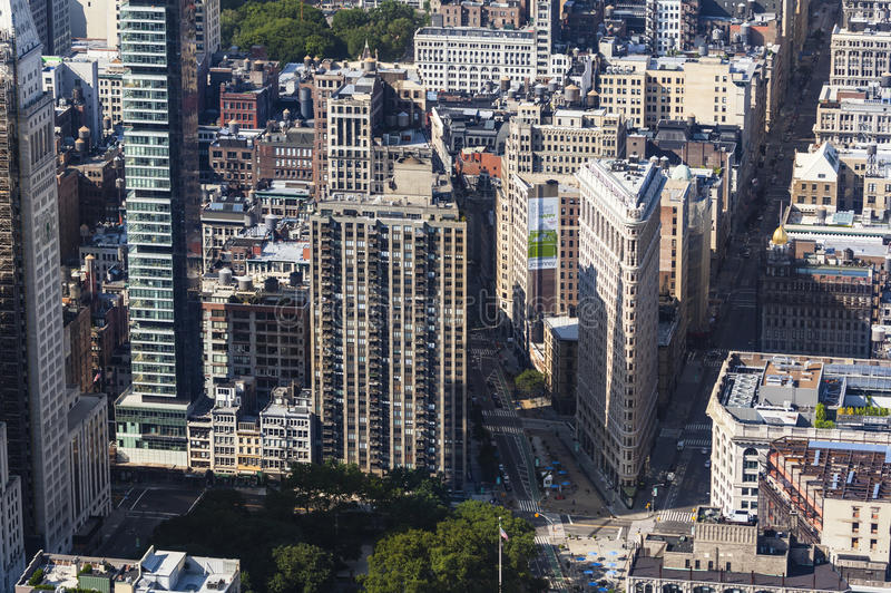 Construção do ferro de passar roupa de Manhattan, editorial foto de stock