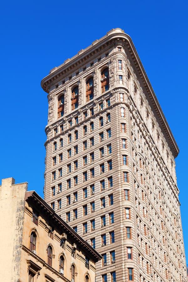 Construção do ferro de passar roupa em Manhattan, New York City fotos de stock