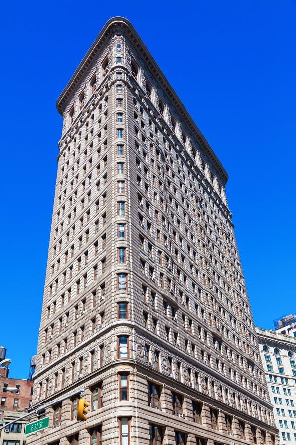 Construção do ferro de passar roupa em Manhattan, NYC imagens de stock royalty free