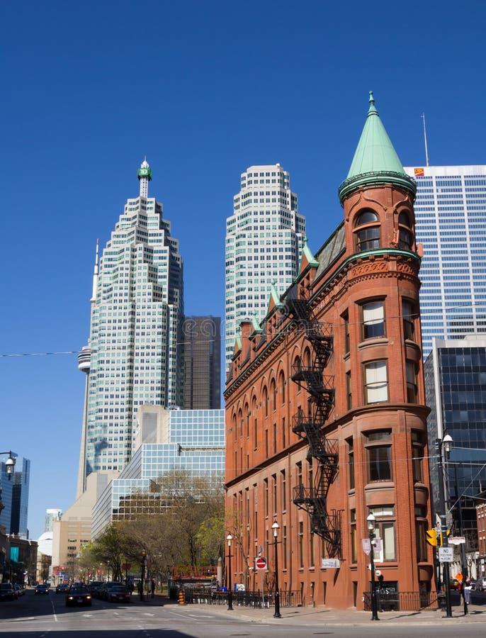 Construção do ferro de passar roupa (Gooderham) em Toronto imagem de stock