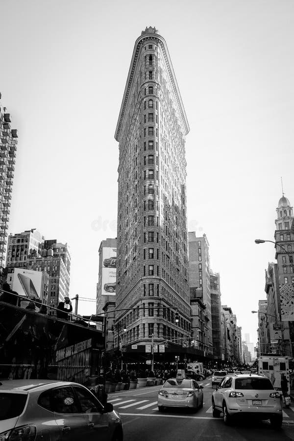 Construção do ferro de passar roupa, NYC foto de stock