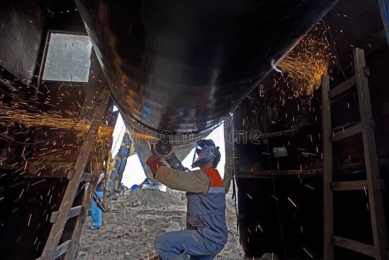 Construção do gasoduto foto de stock