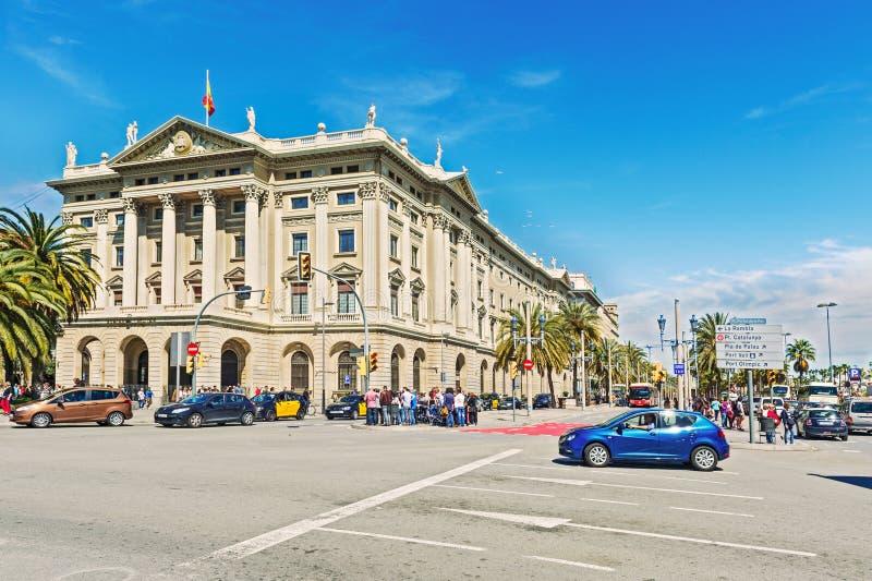 Construção do governo em Barcelona, Espanha imagem de stock