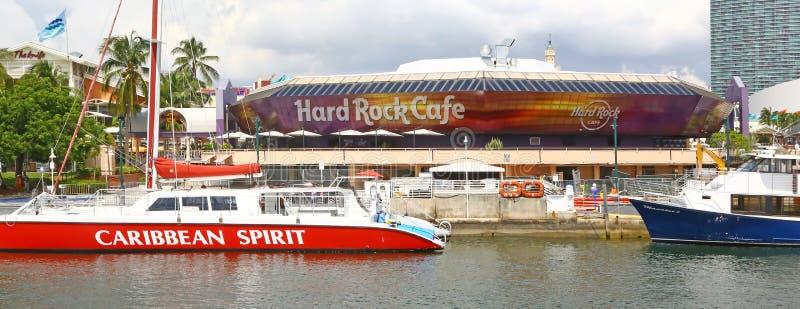 Construção do Hard Rock Café em Miami foto de stock royalty free