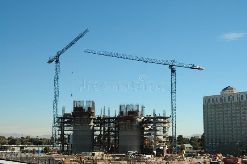 Construção do hotel imagem de stock