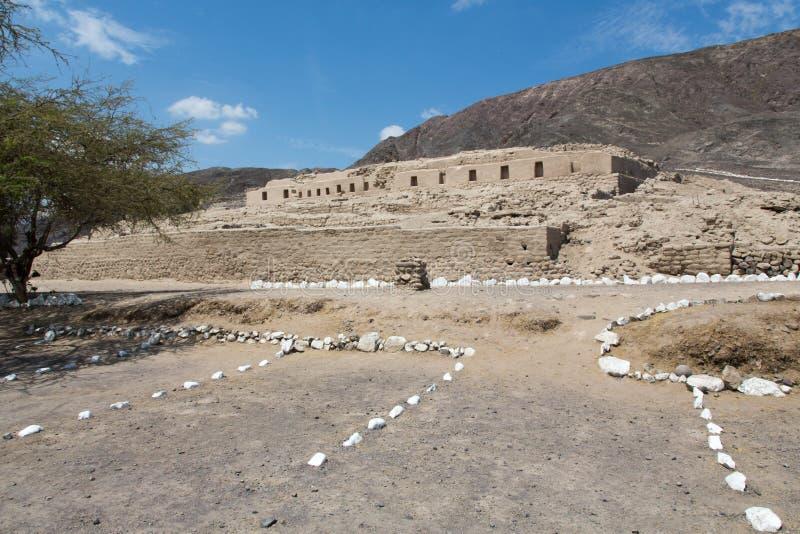 Construção do inca do Peru fotografia de stock