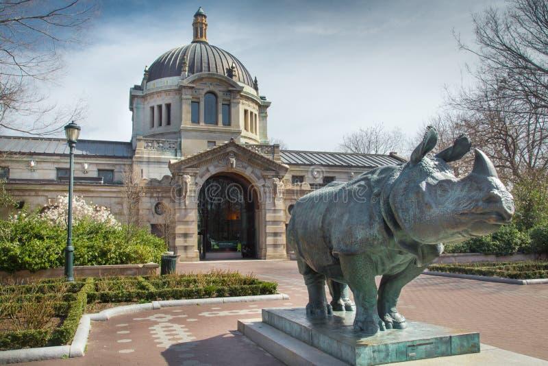 Construção do jardim zoológico de Bronx imagem de stock royalty free