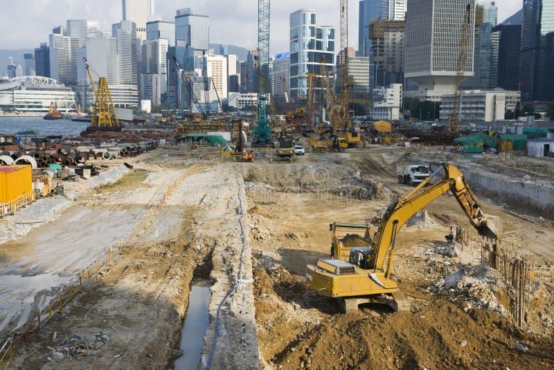 Construção do local da vista foto de stock royalty free