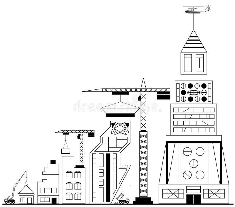 Construção do local sob a construção ilustração stock