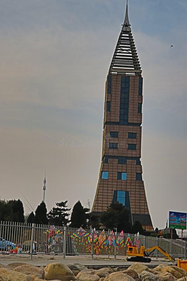 A construção do marco em Hebei foto de stock