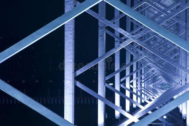 Construção do metal da ponte em macau fotografia de stock royalty free