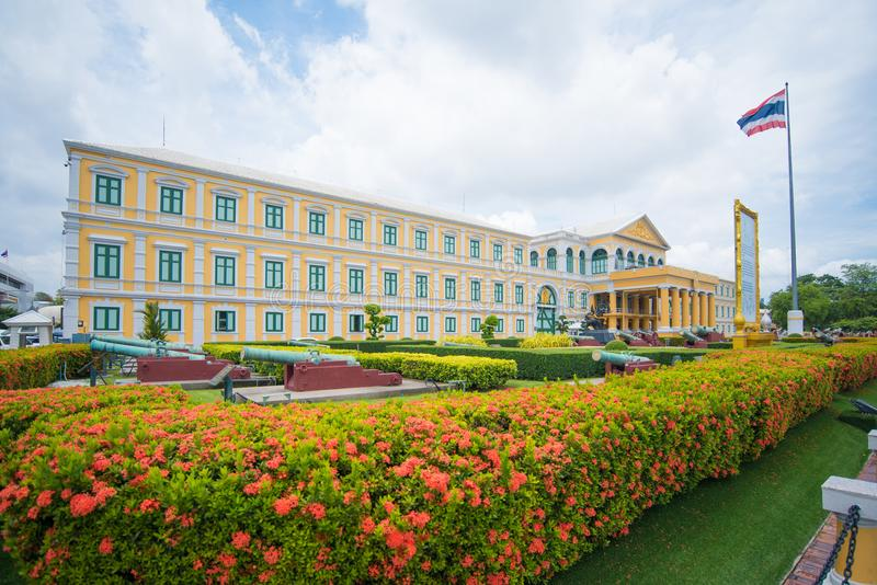 Construção do Ministério de Defesa em Banguecoque, Tailândia foto de stock