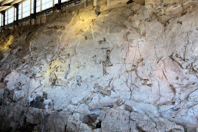 Construção do monumento nacional do dinossauro foto de stock
