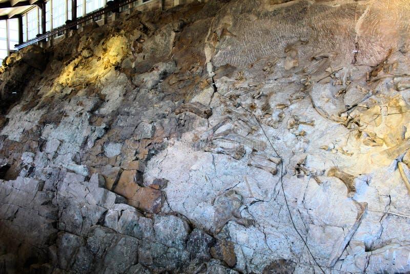 Construção do monumento nacional do dinossauro fotografia de stock royalty free