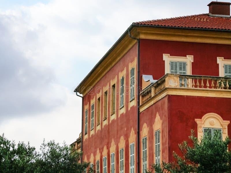 Construção do museu de Musee Matisse Matisse em agradável foto de stock