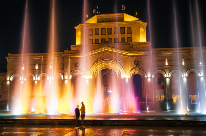 A construção do National Gallery e do museu da história de Armênia fotos de stock royalty free
