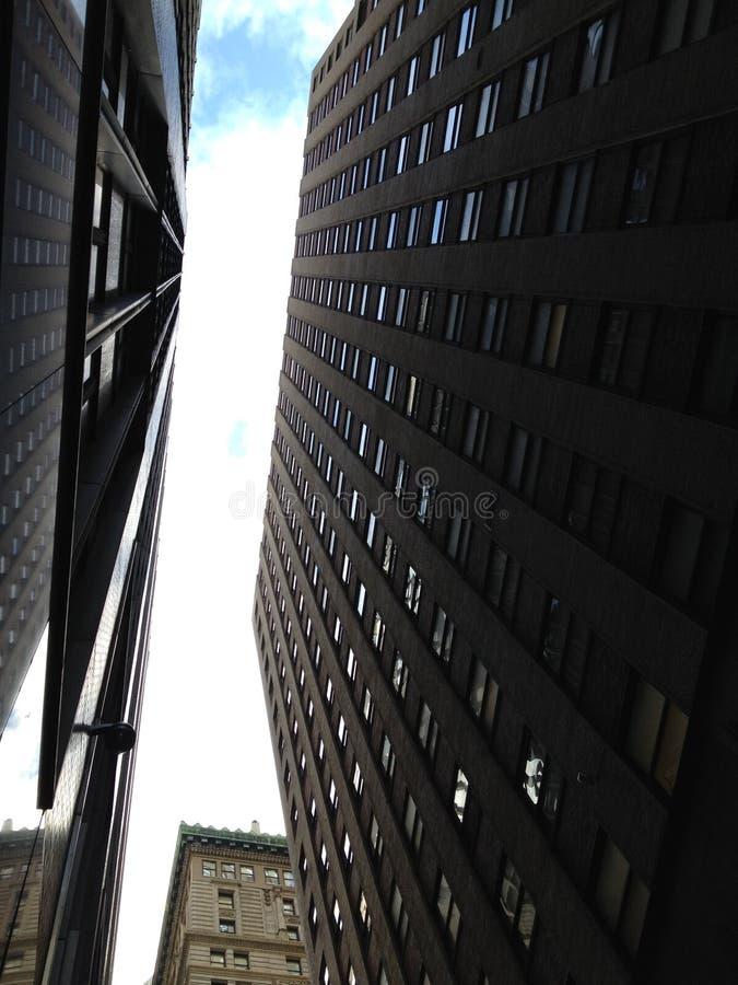 Construção do negócio em NYC foto de stock