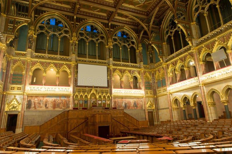 Construção do parlamento de Hungria, Budapest fotos de stock royalty free