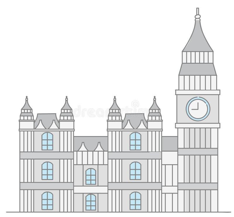 Construção do parlamento de Reino Unido ilustração stock