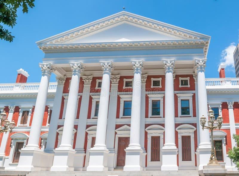 Construção do parlamento em Cape Town fotos de stock royalty free