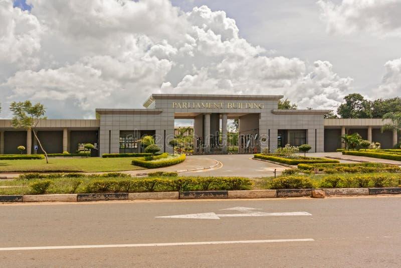 Construção do parlamento em Lilongwe fotos de stock royalty free