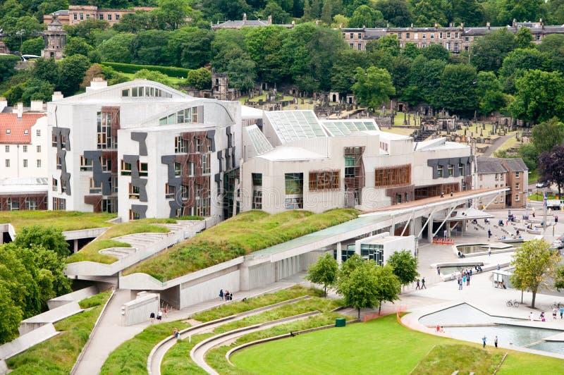 A construção do parlamento escocês em Hollyrood, Edimburgo, Escócia fotos de stock
