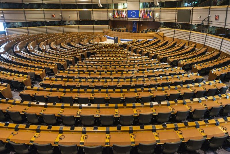 Construção do Parlamento Europeu em Bruxelas, Bélgica imagem de stock royalty free