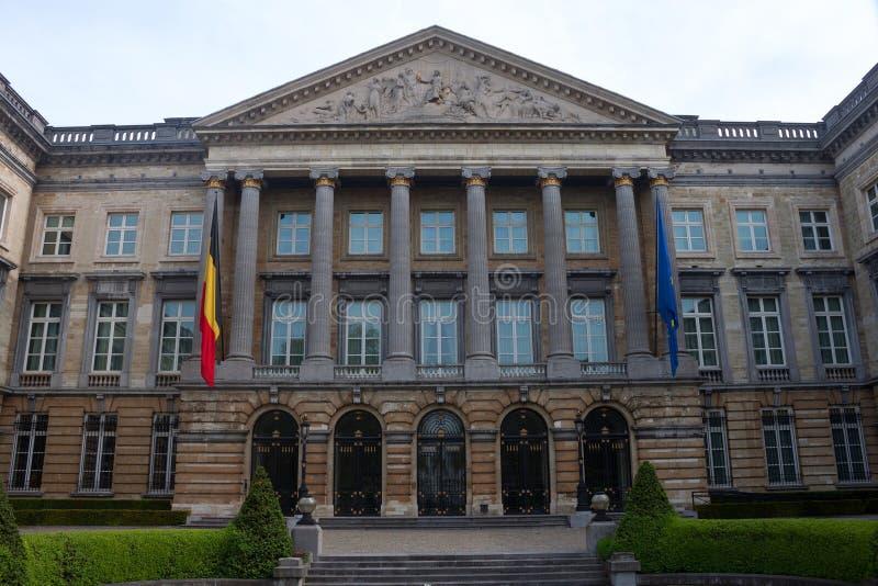 Construção do parlamento federal belga imagens de stock royalty free