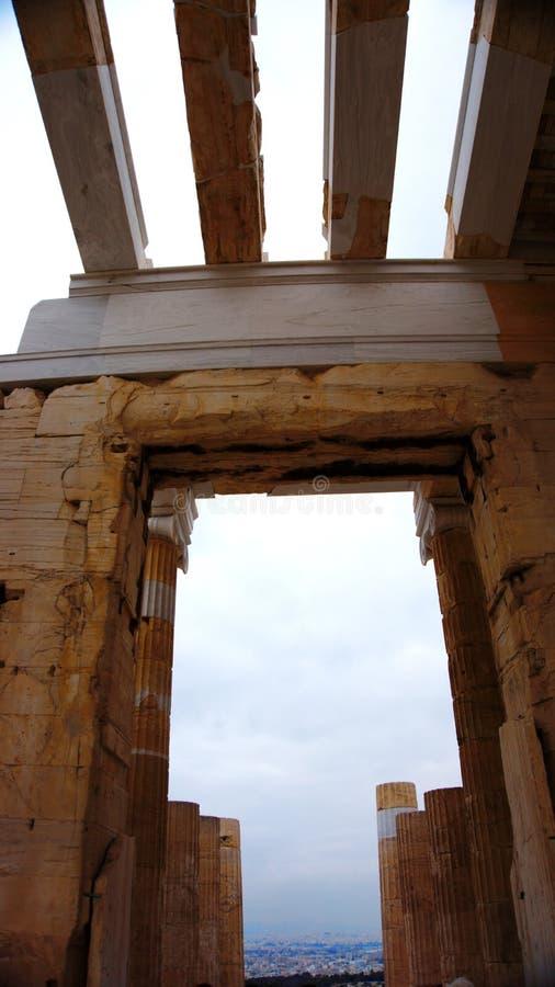 Construção do Partenon sobre o Acropole atenas Greece imagem de stock royalty free