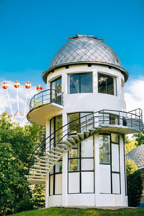 Construção do planetário em Minsk, Bielorrússia imagem de stock royalty free