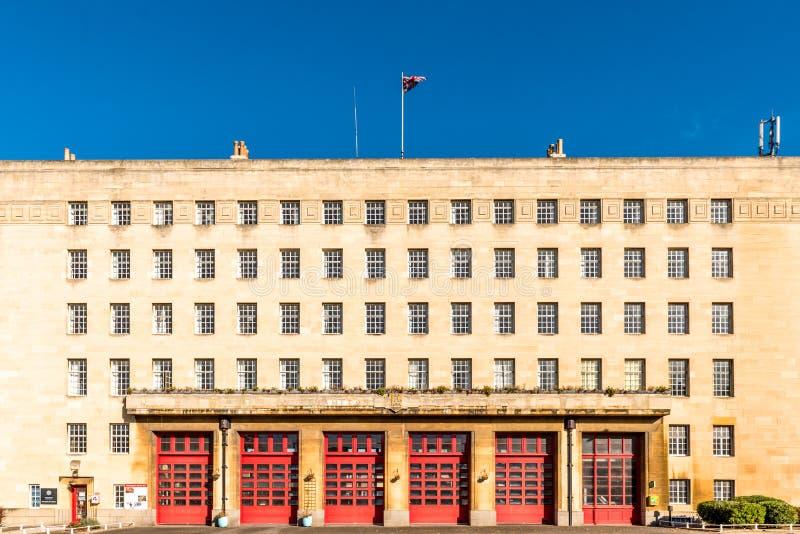 Construção do quartel dos bombeiros em Northampton Inglaterra fotos de stock