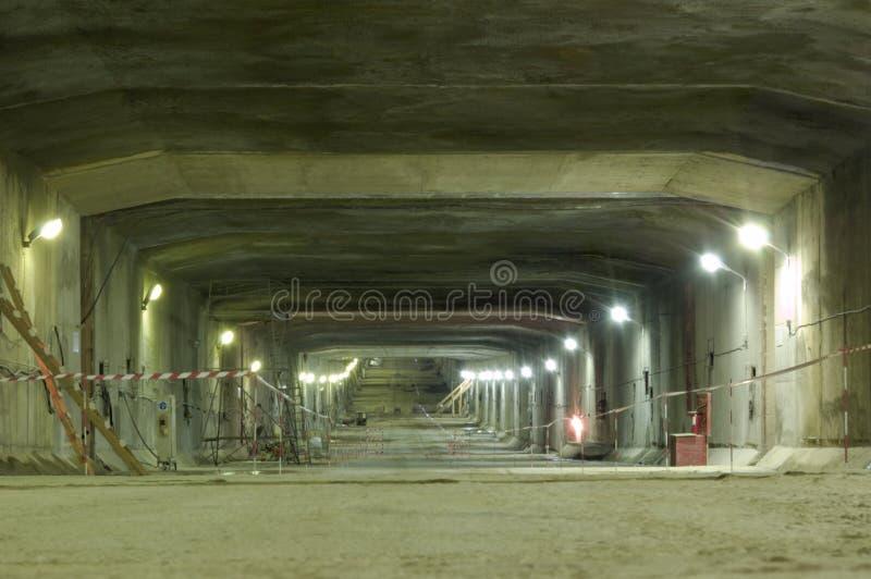 Construção do túnel subterrâneo foto de stock