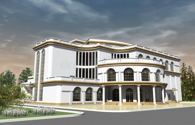 Construção do teatro ilustração stock