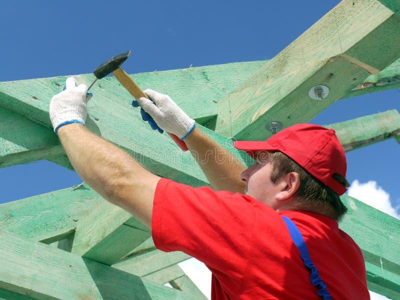 Construção do telhado imagens de stock royalty free